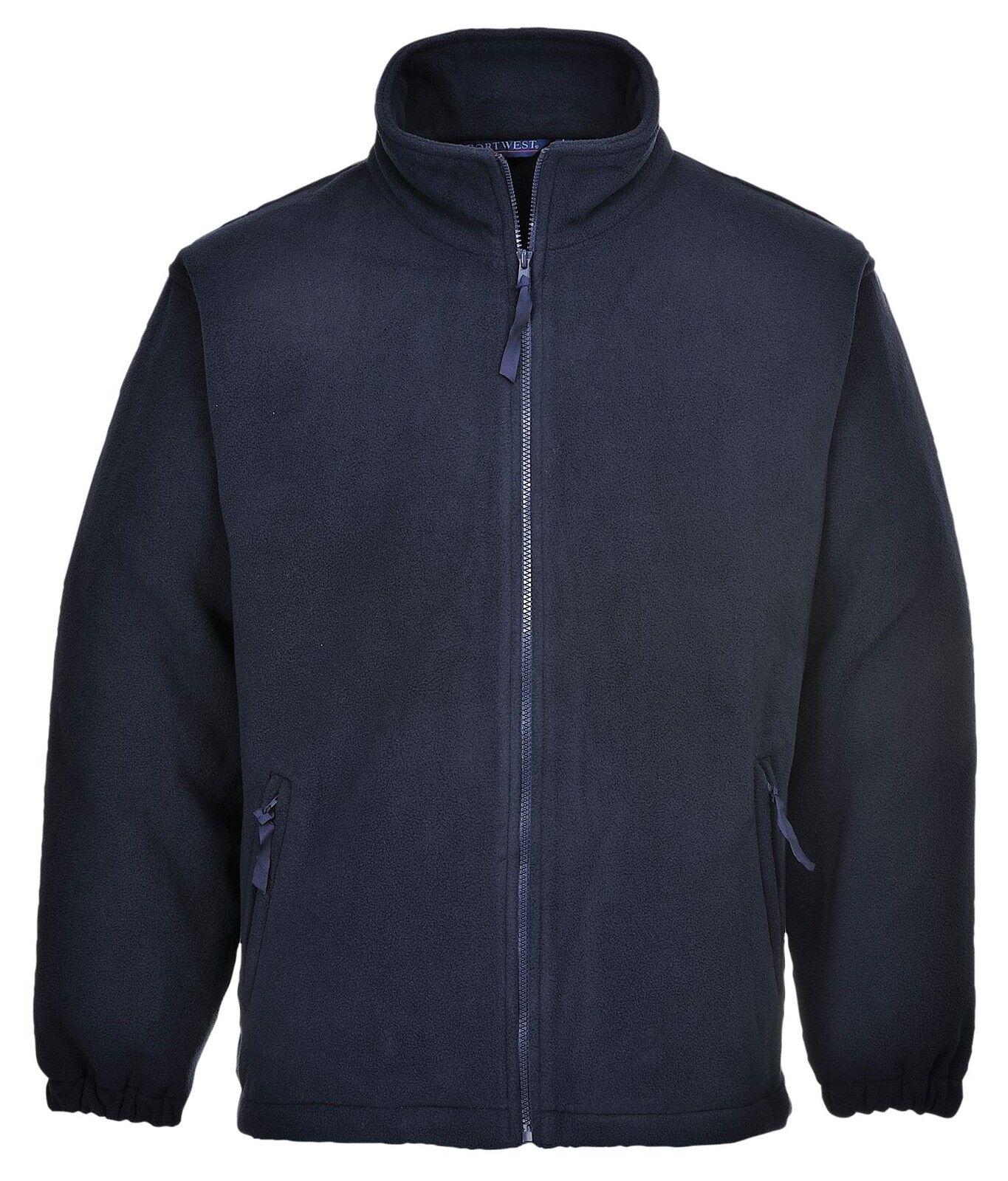 Portwest Aran Chaqueta Chaqueta Chaqueta de Abrigo de lana Workwear Ocio Cremallera acabado anti-píldora F205 533faf