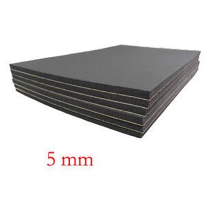 6 sheets car sound proofing deadening insulation 5mm closed cell foam 30x50cm. Black Bedroom Furniture Sets. Home Design Ideas