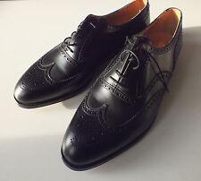 Crockett & Jones 12 G Reino Unido, EE. UU. 12.5 Negro Brogue Oxford nuevo Zapatos Bolsos árboles Cant.