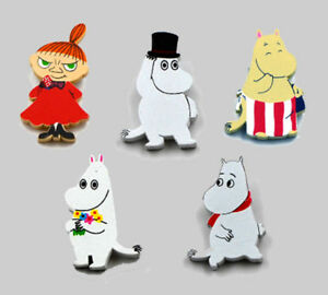 Moomin-Handmade-Wood-Brooch-Pin-Anime-Cartoon-5-Characters-1pc-Fun-Gift