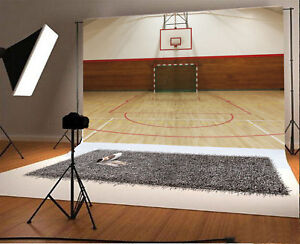 basketball court sports vinyl studio backdrop photography prop photo
