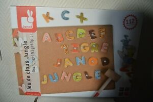 Game-Educational-Set-Nail-With-Letter-Wood-By-JANOD-New