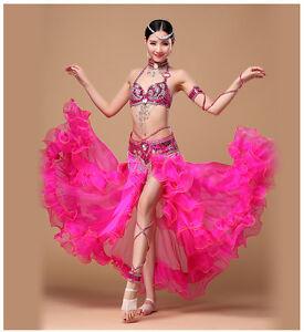 C801 Belly Dance Costume Outfit Set Bra Belt Hip Scarf Skirt Bollywood Carnival