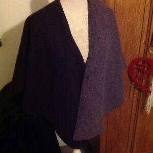 M-amp-S-Per-Una-Wool-Mix-Purple-Mauve-Easywear-Useful-Cape-Size-10-16-Nice-Gift