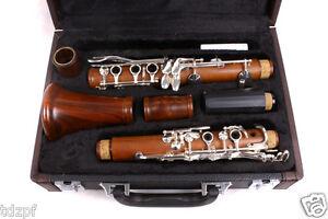New-Professional-Clarinet-Rosewood-Wood-Body-Nickel-Plated-Key-B-flat-17-key-Bb