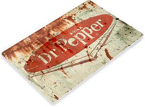 Tin Sign C472 Dr Pepper Retro Rustic Cola Soda Store Metal Sign