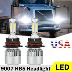 Pair 9007 HB5 LED Headlight Bulbs For Hummer H2 2003-2009 High//Low Beam