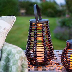 Led-Solare-Rattan-Lanterna-Candela-Decorazione-Giardino-Illuminazione-Esterno