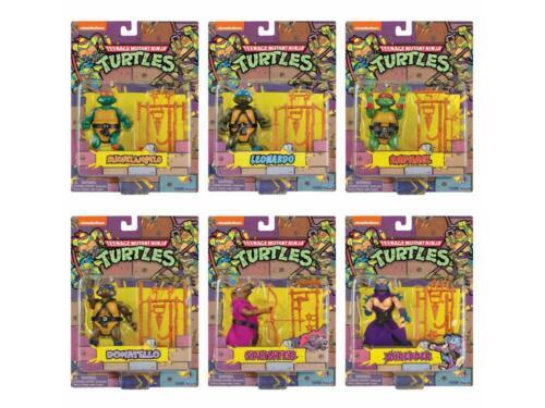 Teenage Mutant Ninja Turtles Ninja Turtles Retro Rotocast San Diego comic-con 2020 Set de 6 figurines Comme neuf dans boîte scellée en Stock