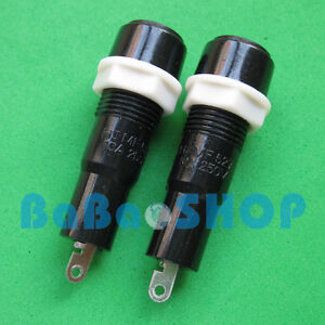 5pcs Ceramics Glass PCB Fuse Holder Socket with wire 5mm x 20mm for Car