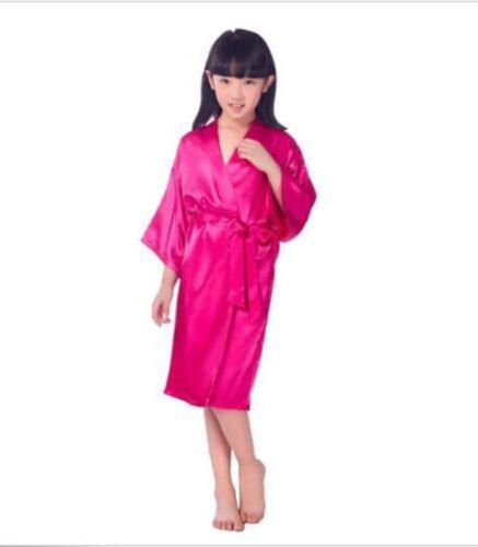 2018 vente chaude soie Kid Robe Kimono Robes demoiselle d/'honneur robe enfants Kid Peignoir