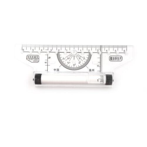 Plastic Metric Squares Angle Parallel Multi-purpose Drawing Rolling Ruler Tool
