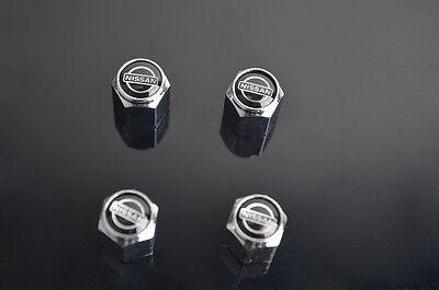 Fine Black Car Tire Tyre Wheel Valve Stems Caps For Nissan All Model