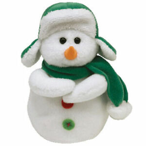 TY Beanie Baby - MR SNOW the Snowman (6 inch) - MWMTs Stuffed Animal Toy
