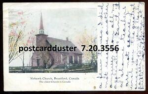 3556-BRANTFORD-Ontario-Postcard-1906-Mohawk-Church