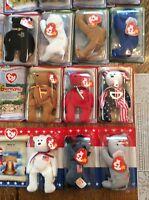 Mcdonalds Teenie Beanie Babies 18 Bear 1999/2000 Complete Set In Boxes