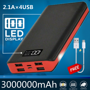 Powerbank 3000000mAh 4USB Digital Charger Tragbare Batterie Power Bank Für Handy
