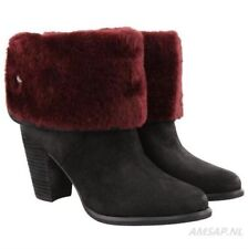 eb8e5dc794e UGG Chyler Leather Cuffed Sheepskin Black Ankle BOOTS Size 6 US for ...