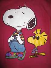 Vintage Peanuts Gang Label - SNOOPY Overalls & WOODSTOCK Sweater (LG) T-Shirt