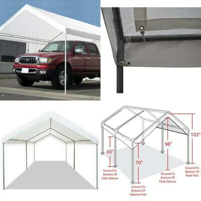 Carport Canopy Heavy Duty Tent 10 X 20 Domain White ...