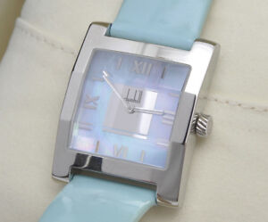 Dunhill-Dunhillion-steel-faceted-rectangular-lady-039-s-watch-new-pristine-in-box