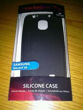 Rocketfish™ Mobile - Silicone Case for Samsung Galaxy S 4 Cell Phones - Black
