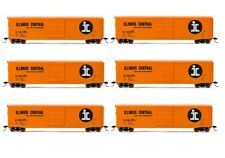 Rivarossi Illinois Central Sliding Door Box Car HO Scale Train Car-Set Of 6 Cars
