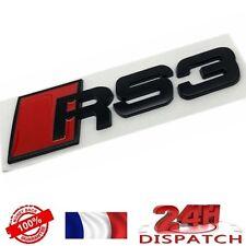 Logo RS3 NOIR pour Audi A3 emblem sigle badge sticker aufkleber adesivoLogo RS3