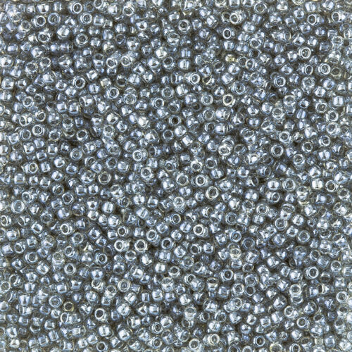 Toho Size 11//0 Seed Beads Transparent Lustered Black Diamond 8.2g L35//2