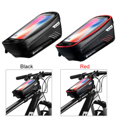 "Waterproof MTB Bike Front Tube Cycling Bag 4.7/""-6.5/'/' Touch Screen Phone Case"