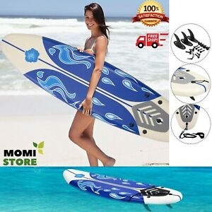 Surfboard-Longboard-Board-Surfing-Water-Sport-Foam-Adults-with-Removable-Fins
