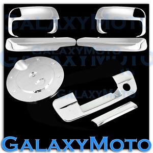 10-15 Dodge Ram 2500+3500+HD Chrome Towing Mirror+Arm+4 Door Handle+Gas Cover