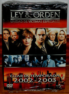 LEY Y ORDEN 4ª TEMPORADA COMPLETA  6 DVD NUEVO PRECINTADO SERIE (SIN ABRIR) R2