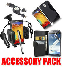 7 X ACCESSORY BUNDLE KIT FOR SAMSUNG NOTE 3 + CASE COVER CAR HOLDER CHARGER