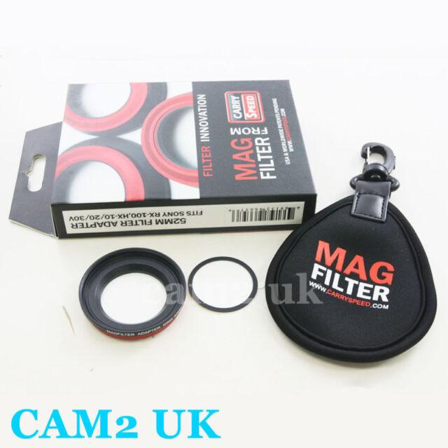 MagFilter 52mm Filter Adapter Ring for Sony RX100 II III HX20V HX30V HX9V camera