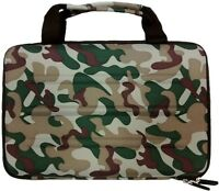 Camo Eva Style Hard Shell Zipper Travel Case For Tablet, Small Laptop, Ipad Air