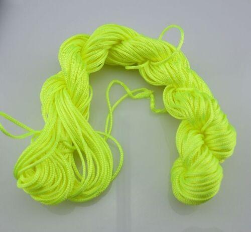 New 1 mm//2 mm DIY Chinese Knotting Nylon String Beading Bracelet Thread Cord