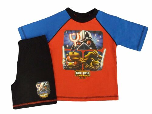 Boys Kids Angry Birds Starwars II Cotton Short Pyjama Sleepwear Nightwear