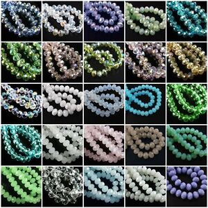 50pcs-80pcs-Rondelle-Crystal-Glass-Loose-Spacer-Beads-Jewelry-Making-Findings-so