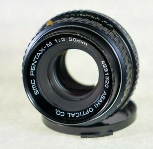 TESTED-Pentax-K-Mount-SMC-Pentax-M-50mm-1-2-F-2-0-MF-Prime-Lens-with-cap