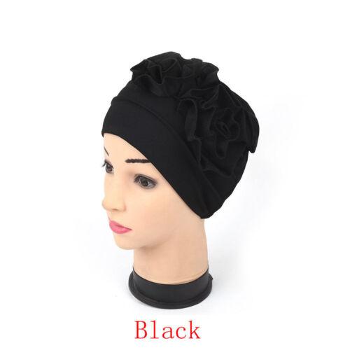 Neu Hijab Rüsche Chemo Hut Beanie Mütze Krebs Turban Muslimischer Schal