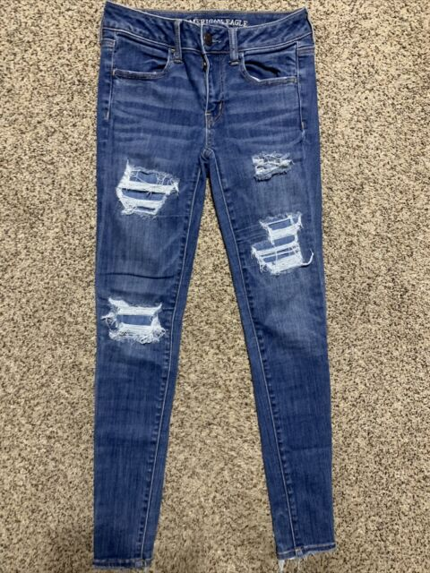 AE AMERICAN EAGLE OUTFITTERS JEGGING SUPER SUPER STRETCH X WOMENS JEANS SIZE 4