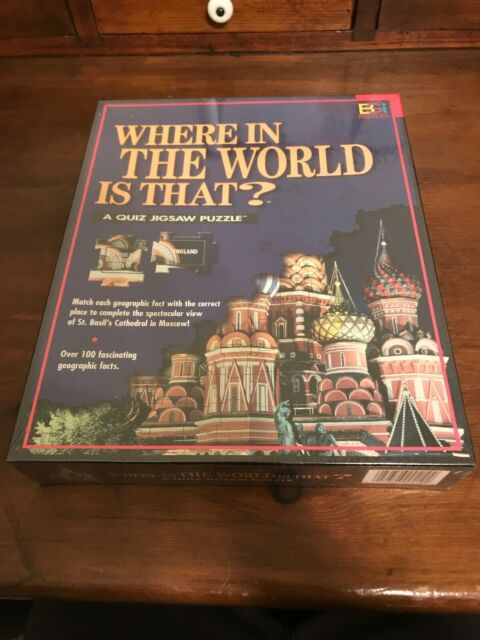 NEW Where in the World Is That  A Quiz Jigsaw Puzzle St Basil's Cathedral Moscow