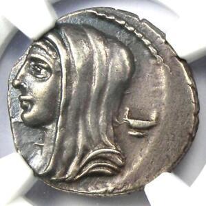 Roman-L-Cassius-Longinus-AR-Denarius-Vesta-Coin-63-BC-NGC-Choice-XF