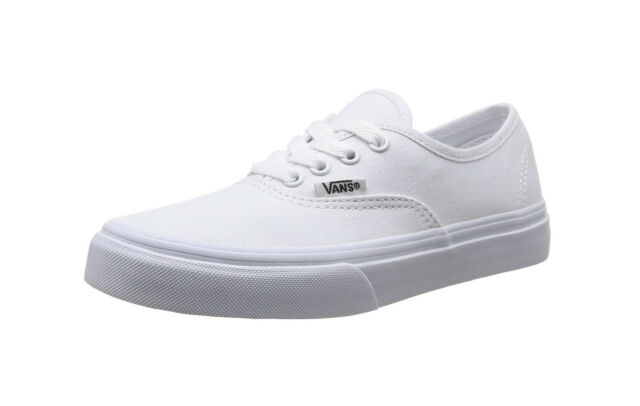 4c7f28b6e5bb VANS Authentic True White Canvas Lace Up Kids Fashion Sneakers Girls Boys  Shoes