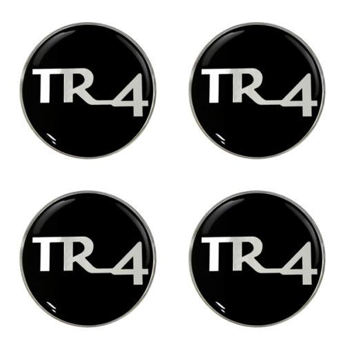 Triumph TR4 noir b//g logo self adhésif lot de 4 gel roue centres