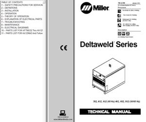 Miller Deltaweld 452 Service Manual