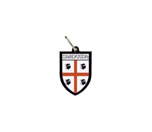 keychain key chain ring flag national keyfob souvenir shield sardegna sardinia