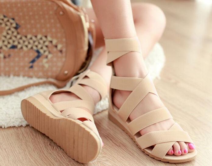 Sandale sandal femme beige talon 3,5 cm code 8364