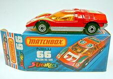 "MATCHBOX SF N. 66b MAZDA rx500 ROSSO ""Streaker"" laccate piastra di base RARO"